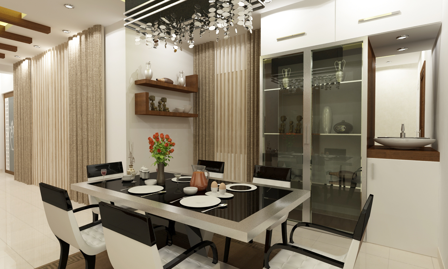 Best interior designers in hyderabad best interior for Latest dining hall designs